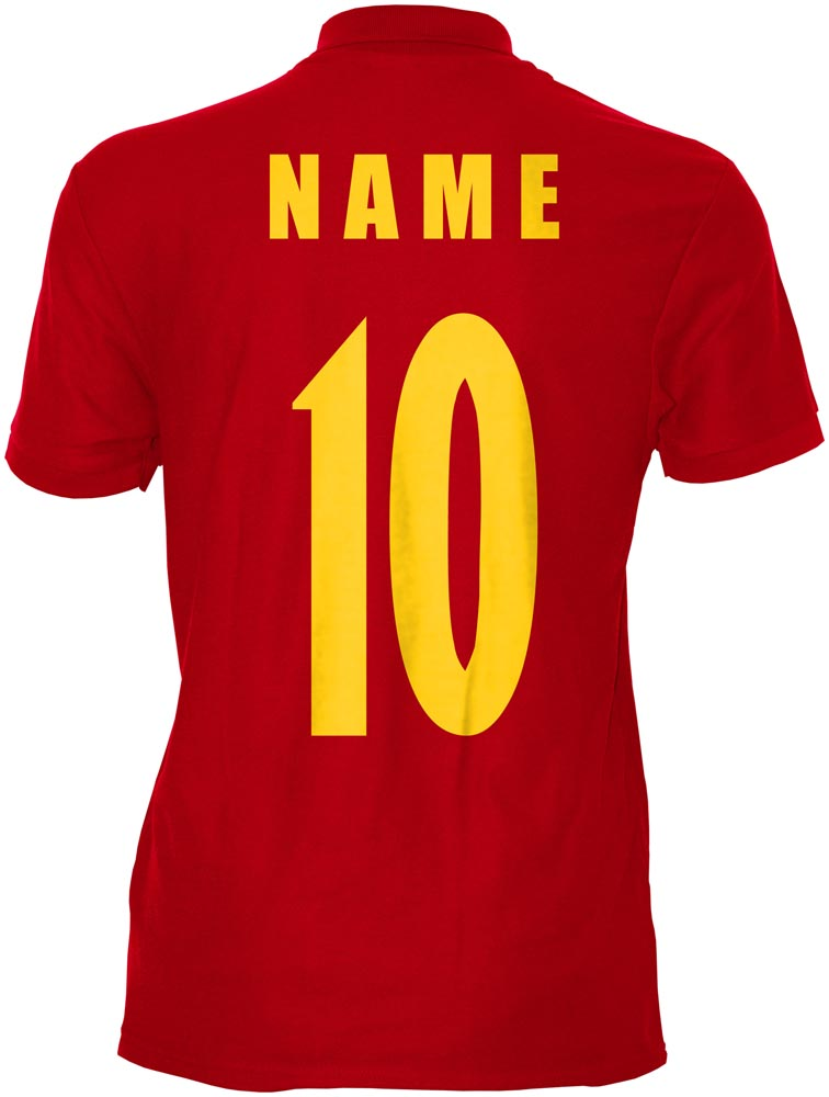 Montenegro WM 2018 T-Shirt Rot Trikot Fußball Nr ALL 10 Sport