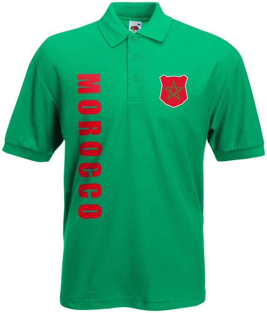 wm 2018 marokko morocco polo shirt trikot name nummer ebay. Black Bedroom Furniture Sets. Home Design Ideas