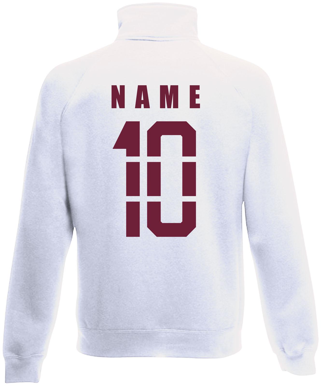 Gambie veste sweatjacke maillot avec Nom /& numéro s m l xl xxl