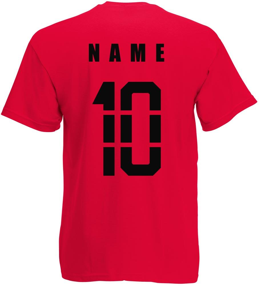 Name EM 2016 Fußball Nr ALBANIEN Damen Shqipëria Shirt T-Shirt Trikot