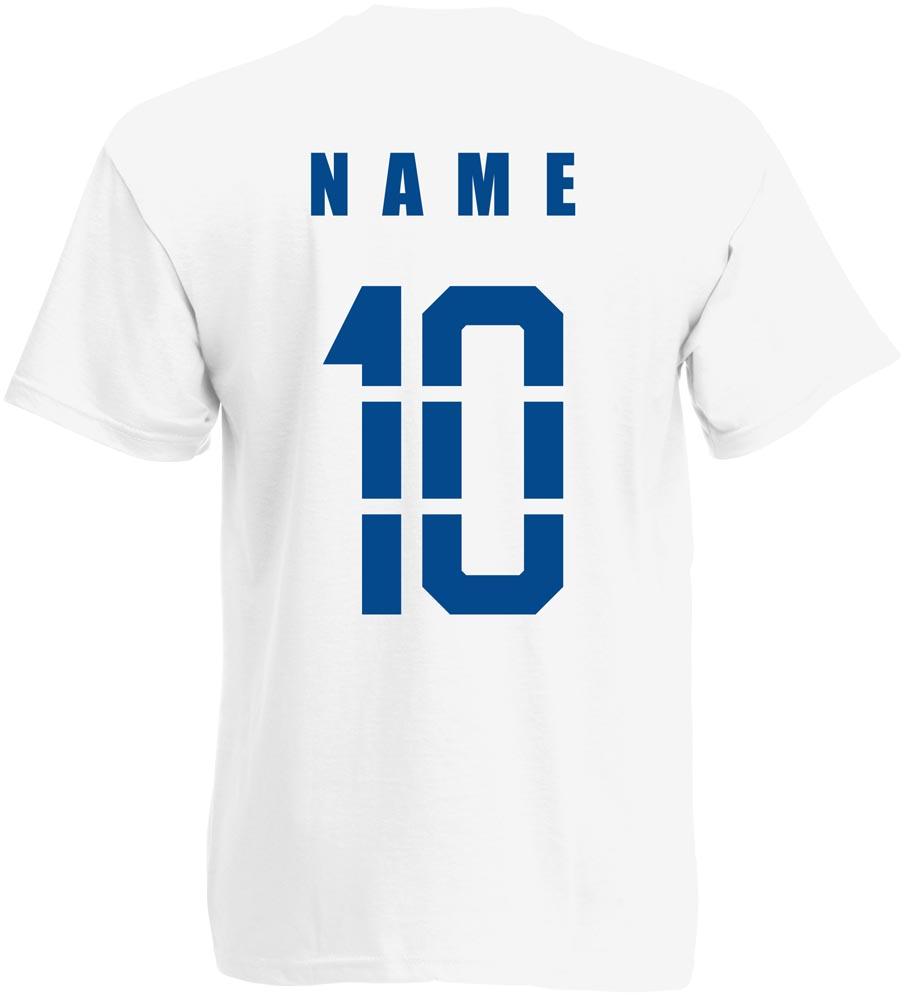 Name /& Numéro mini Coupe du monde 2018 Le Brésil Brazil T-shirt maillot Incl