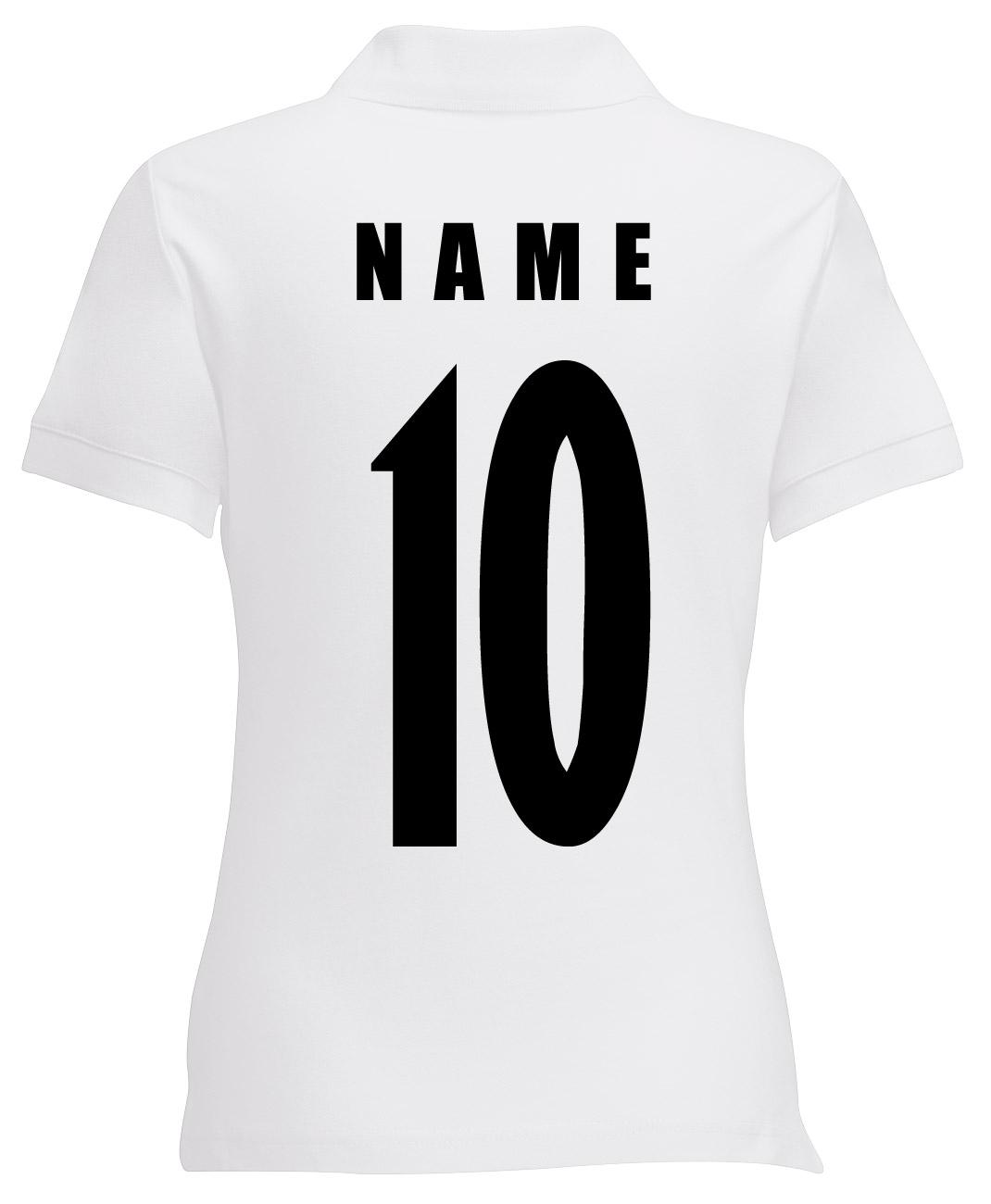 Germania Maglia da Donna Fanshirt POLO WM 2018 nome numero