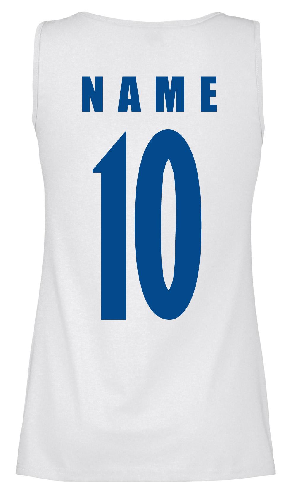 Uruguay Damen Trikot Fanshirt Top Shirt WM 2018 Name Nummer
