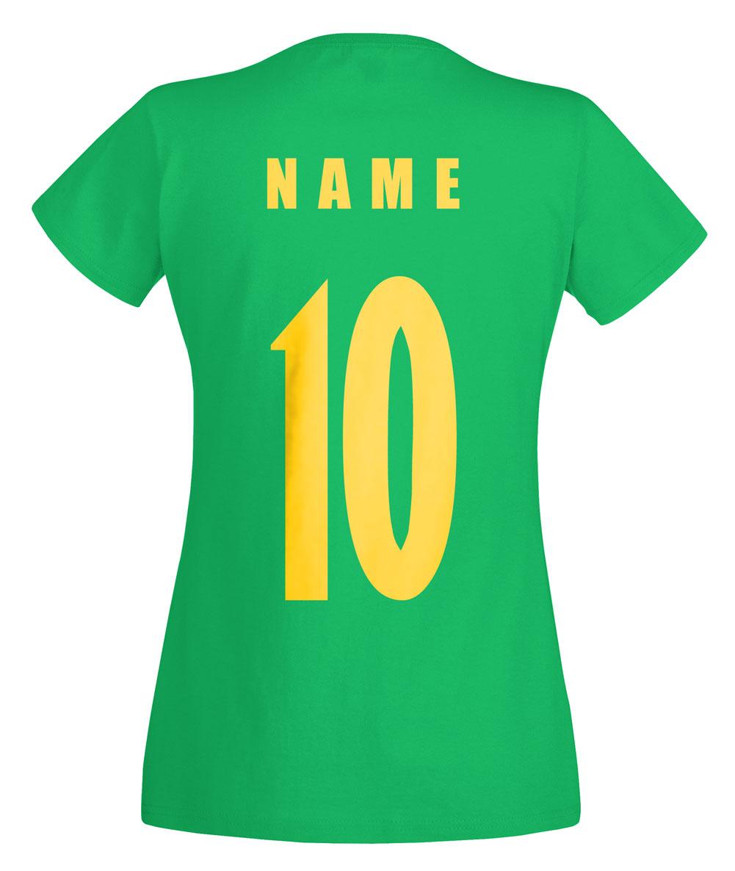 Sénégal coupe du monde 2018 T-Shirt Femmes Maillot Nom Numéro football équipe national