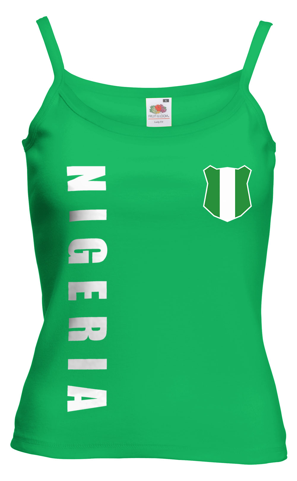 nigeria wm 2018 damen spaghetti t shirt top trikot name. Black Bedroom Furniture Sets. Home Design Ideas