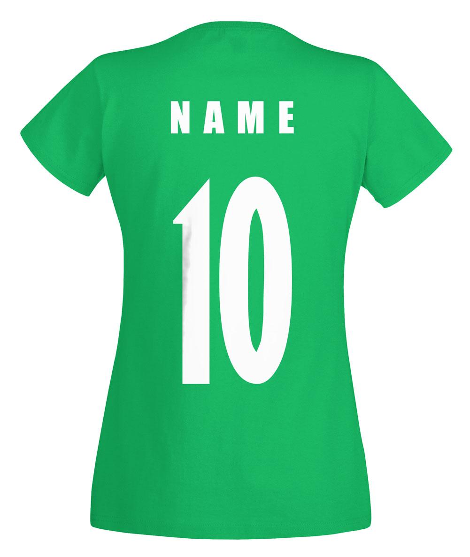 iran wm 2018 damen t shirt trikot name nummer fussball. Black Bedroom Furniture Sets. Home Design Ideas