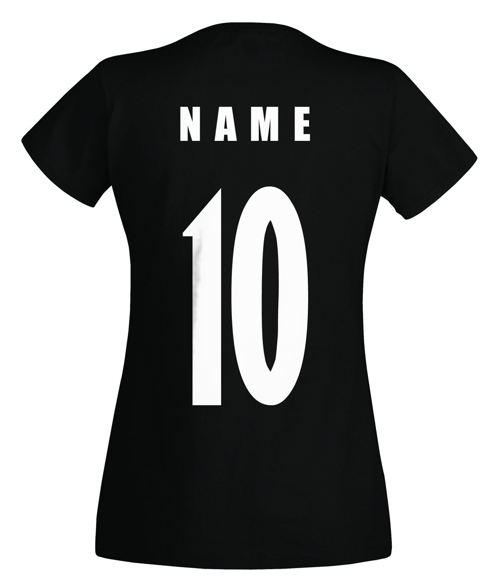 spanien espana wm 2018 damen t shirt trikot name nummer. Black Bedroom Furniture Sets. Home Design Ideas